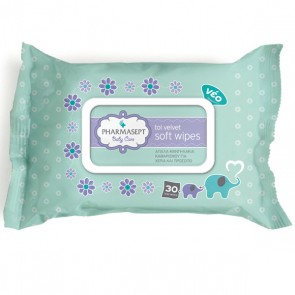 PHARMASEPT Tol Velvet Baby Soft Wipes (30 τεμάχια)
