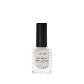 Korres - Βερνίκι Νυχιών Gel Effect Nail Colour 01 Blanc White - 11ml