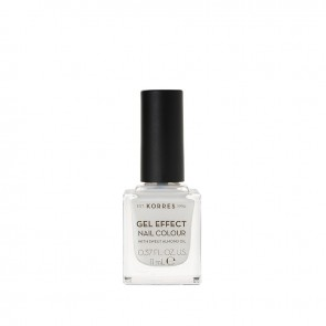 Korres - Βερνίκι Νυχιών Gel Effect Nail Colour 02 Porcelain White - 11ml