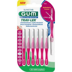 Sunstar - Gum trav-ler cylindrical interdental brush (1612) Μεσοδόντια βουρτσάκια 1,4mm - 6τμχ