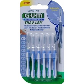 Sunstar - Gum trav-ler cylindrical interdental brush (1312) Μεσοδόντια βουρτσάκια 0,6mm - 6τμχ