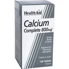 Health Aid - Calcium Complete 800mg Συμπλήρωμα Διατροφής με ασβέστιο - 120tabs