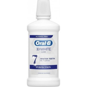 Oral-B - 3D White luxe whiter teeth in 7 days perfection Στοματικό διάλυμα με λευκαντική επίδραση - 500ml
