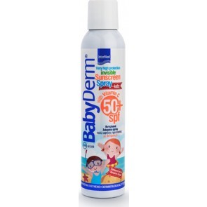 Intermed - Babyderm invisible sunscreen spray for kids with vitamin C SPF50 Παιδικό διάφανο αντηλιακό σπρέι με βιταμίνη C - 200ml