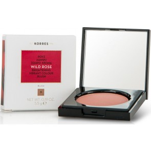 Korres - Wild Rose Brightening Vibrant Colour Blush No31 Light Bronze  Άγριο Τριαντάφυλλο Ρουζ - 5.5gr