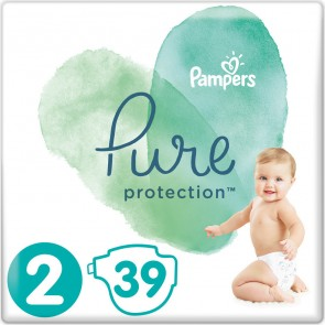 Pampers - Pure protection No 2 (4-8kg) Βρεφικές πάνες - 39τμχ