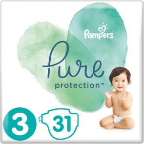 Pampers - Pure protection No 3 (6-10Kg) Βρεφικές πάνες - 31τμχ