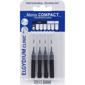 Elgydium - Mono compact black interdental brushes 0.35mm Μεσοδόντια βουρτσάκια - 4τμχ