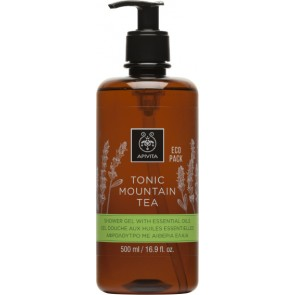 Apivita - Eco pack tonic mountain tea shower gel with essential oils Αφρόλουτρο με αιθέρια έλαια - 500ml