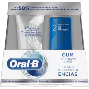 Oral-B - Gum intensive care oral hygiene system for healthy gums toothpaste Οδοντόκρεμα - 85ml & Protection gel Τζελ προστασίας - 63ml
