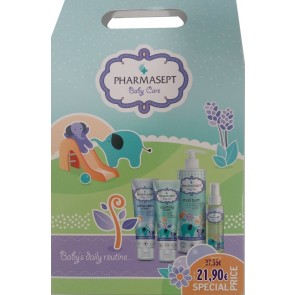 Pharmasept - Baby care mild bath Απαλό βρεφικό αφρόλουτρο για πρόσωπο, σώμα & μαλλιά - 500ml & Baby extra calm cream - 150ml & Baby natural oil - 100ml & Baby soothing cream - 150ml