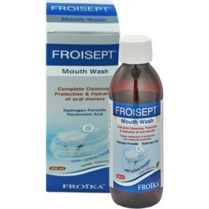 Froika - Froisept mouthwash with active oxygen & stevia Στοματικό διάλυμα με ενεργό οξυγόνο & στέβια - 250ml