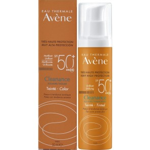 Avene - Cleanance solaire unifying tinted sunscreen SPF50+ Αντηλιακό γαλάκτωμα με χρώμα για λιπαρή και με τάση ακμής επιδερμίδα - 50ml