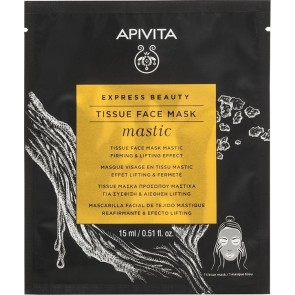Apivita - Express beauty mastic tissue face mask firming & lifting effect Μάσκα προσώπου με μαστίχα για σύσφιγξη - 15ml