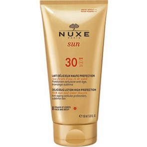 Nuxe - Sun delicious lotion high protection for face & body SPF30 Αντηλιακό γαλάκτωμα προσώπου & σώματος - 150ml
