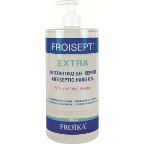 Froika - Froisept extra antiseptic hand gel Αντισηπτικό τζελ χεριών 80% - 1000ml