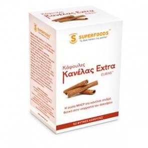 Superfoods - Κανέλλα Extra Eubias 110mg - 50 Κάψουλες