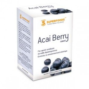 Superfoods - Acai Berry Eubias 300mg - 50 Κάψουλες