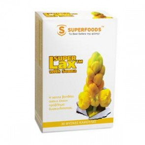 Superfoods - Super Lax με Σέννα 360mg - 30 κάψουλες