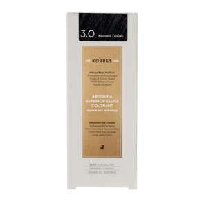 Korres - Abyssinia Superior Gloss Colorant 3.0 ΣΚΟΥΡΟ ΚΑΣΤΑΝΟ - 50ml