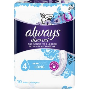 Always - Discreet for Sensitive Bladder Long Σερβιέτες ακράτειας Long - 10τεμ.