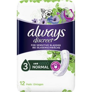 Always - Discreet for Sensitive Bladder Normal Σερβιέτες ακράτειας Normal - 12τμχ