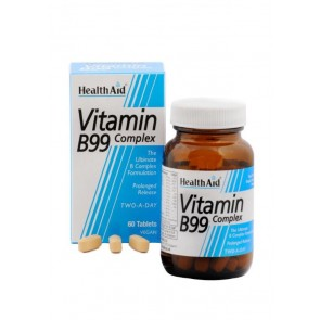 Health Aid - Vitamin B99 Complex Συνδυασμός Βιταμινών του Συμπλέγματος Β - 60tabs.