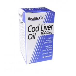 Health Aid - Cod Liver Oil 1000mg Μουρουνέλαιο - 30caps
