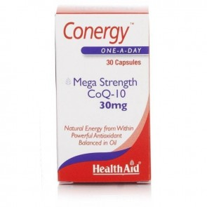 Health Aid - Conergy COQ10 30mg Συνένζυμο Q10 - 30caps