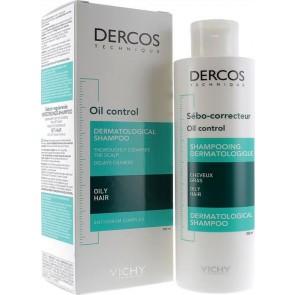 Vichy - Dercos oil control dermatological shampoo for oily hair with antisebum complex Σαμπουάν για τη ρύθμιση της λιπαρότητας - 200ml