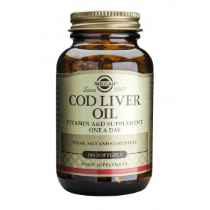 Solgar - Cod Liver Oil - 100 Softgels