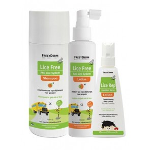 Frezyderm - Lice Free Set (Shampoo + Lotion) - 2x125ml & Δώρο Lice Rep Lotion - 80ml