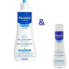 Mustela - Gentle Cleansing Gel Hair & Body Αφροντούζ για σώμα & μαλλιά 500ml & Δώρο Cleansing Gel - 200ml