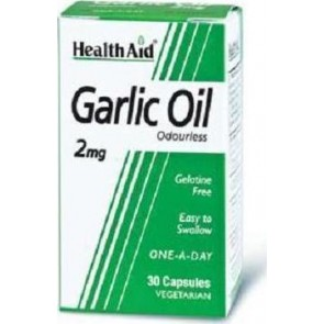 Health Aid - Garlic Oil 2mg Vegetarian Έλαιο Σκόρδου - 30caps