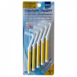 Intermed - Chlorhexil unisept interdental brushes SSS 0,7mm Μεσοδόντια βουρτσάκια - 5τμχ