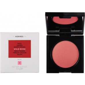 Korres - Wild Rose Brightening Vibrant Colour Blush No12 Golden Pink  Άγριο Τριαντάφυλλο Ρουζ - 5.5gr