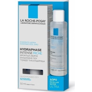 La Roche-Posay - Hydraphase Intense Riche - 50ml & Δώρο Effaclar Micellar Water Ultra - 50ml