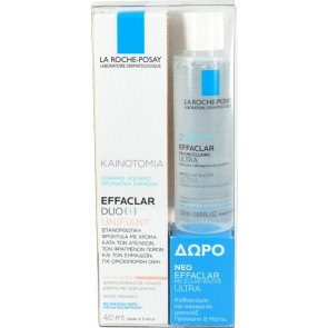 La Roche Posay - Effaclar Duo(+) Unifiant Light Shade - 40ml & Δώρο Effaclar Micellar Water Ultra - 50ml