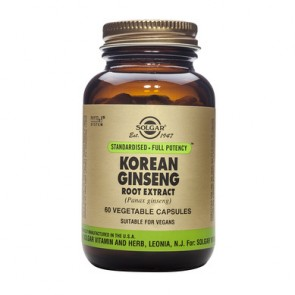 Solgar - Korean Ginseng Root Extract - 60 φυτικές κάψουλες