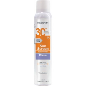 Frezyderm - Sun Screen Mousse SPF30 Face & Body Water Resistant Αντηλιακό μους- 200ml