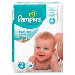 Pampers - ProCare Premium Protection No2 (3-6Kg) - 36τμχ