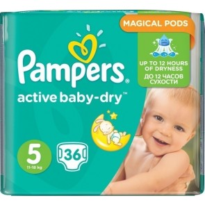 Pampers - Active Baby Dry Νο5 (11-18kg) - 36 τμχ