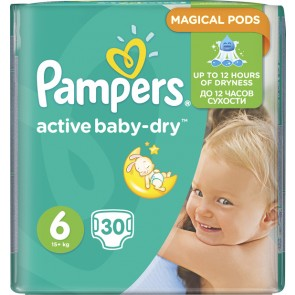 Pampers - Active Baby Dry No6 (15+Kg) - 30 τμχ