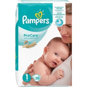 Pampers - Procare Premium Protection No 1 (2-5kg) - 38 τμχ