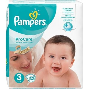 Pampers - ProCare Premium Protection No3 (5-9kg) - 32 τμχ