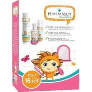 Pharmasept - Kid Care Girl Set Soft Hair Shampoo - 300ml Lotion X-Lice - 100ml & Kid Soft Hair Lotion - 150ml