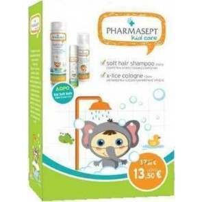 Pharmasept - Kid Care Girl Set Soft Hair Shampoo - 300ml Lotion X-Lice - 100ml & Kid Soft Bath - 40ml