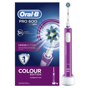 Oral-B - Pro 600 Crossaction Colour Edition Επαναφορτιζόμενη Ηλεκτρική Οδοντόβουρτσα - 1τμχ