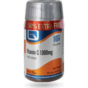 Quest - Vitamin C 1000mg timed release plus 100mg bioflavonoids - 60tabs + 30tabs ΔΩΡΟ