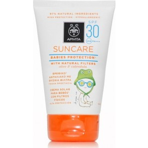 Apivita - Suncare Babies Protection with Natural Filters Olive & Calendula Spf30 Βρεφικό Αντιηλιακό με Φυσικά Φίλτρα SPF30 - 100ml